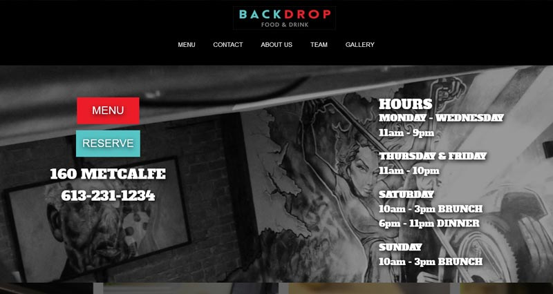 Backdrop Web Design by WhiteWater Web