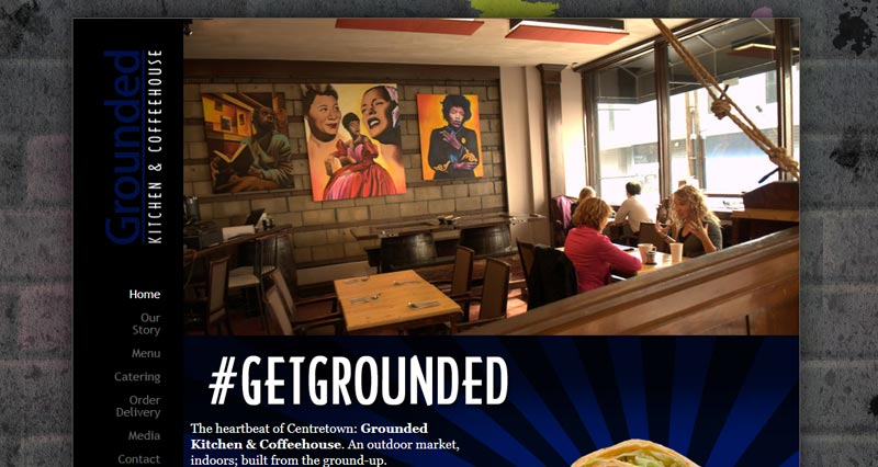 Grounded Kitchen Web Design by WhiteWater Web