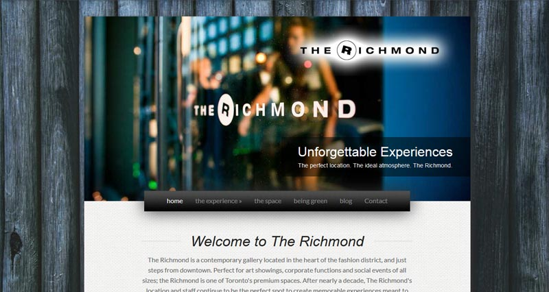 The Richmond in Toronto - Digital Marketing provided by WhiteWater Web