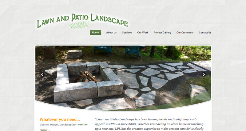 Landscaping Web Design and Branding - WhiteWater Web