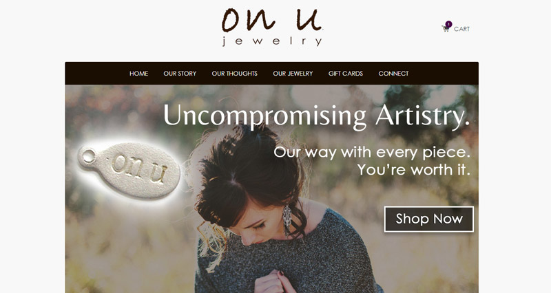 OnU Jewelry Custom Shopify Development, eCommerce Build